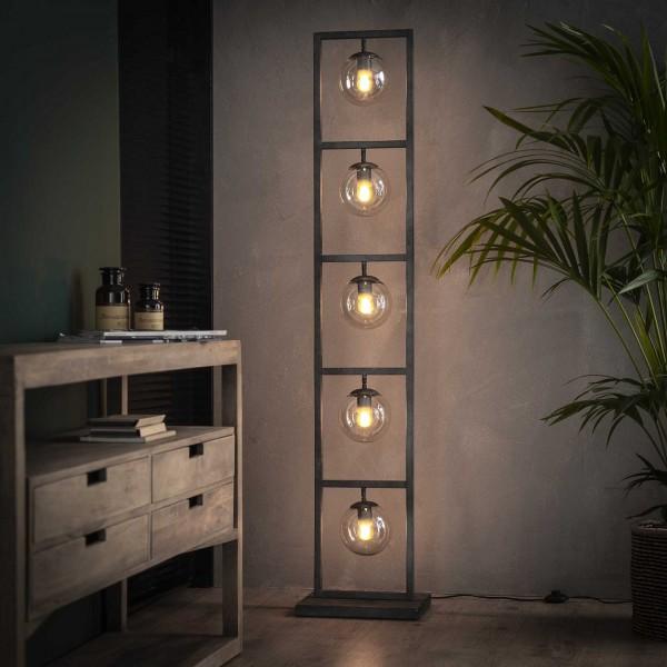 "Stehlampe ""Riekje"" 5 Lampen Metalllampe Silber 34x23x160cm (B/T/H) Industrial Style Zijlstra"