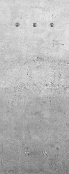 "Spiegelprofi 76025014 Glasgarderobe FELIX Glasgarderobe ""Zement"", 50x125x6 cm, Garderobe,"
