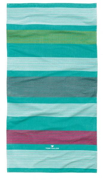 "Tom Tailor Strandtuch ""Narja"", aqua, 85 x 160 cm, Duschtuch"