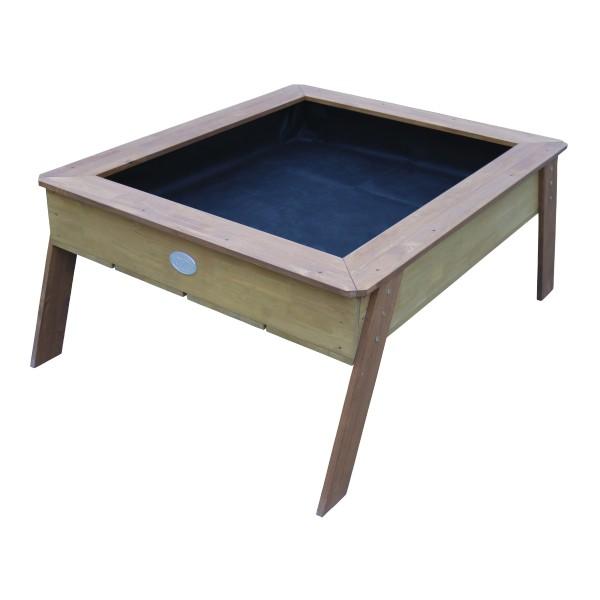 """Sandtisch mit Hochbeet """"Marlin"""" braun 110x93,50x50cm (L/B/H) Gartenhochbeet Sandspieltisch"""