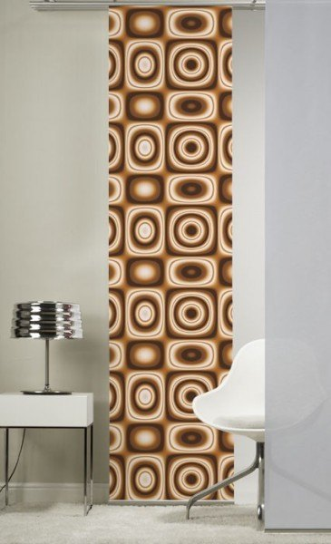 Emotion Textiles 1er Flächenvorhang Schiebevorhang Retro Orange incl. Montagesatz