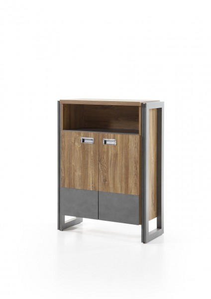 "Kommode, Highboard, Wohnzimmer, Esszimmer, Industrie ""Java Livin III"" Beauty.Scouts, Stirling oak, Schrank"