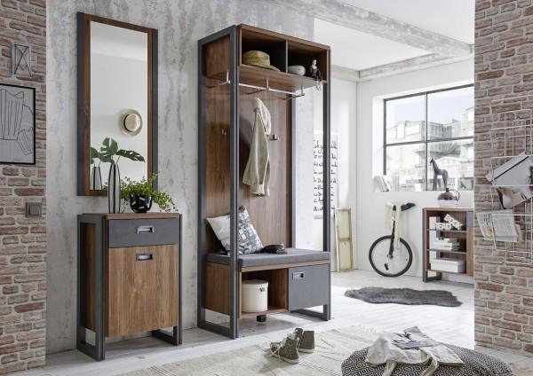 Garderobenkombination, Garderobe, Diele, Flur, Industrie design, Java Living, Beauty.Scouts, Set, Stirling Oak,