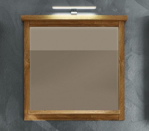 """Badezimmerspiegel """"Nizza"""", Spiegel, B/H/T: 75 x 74 x 14 cm, Alteiche Nachbildung, Badezimmer"""