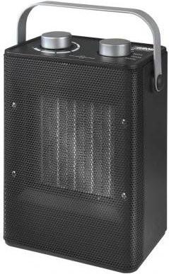 """Heizlüfter """"Lino"""" Elektrische Heizung schwarz 12x19,5x25cm Heizstrahler Heizung"""