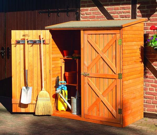 """Geräteschrank """"Manfred I"""", Kiefer, honigbraun, 149x78x163cm, Gartenschrank, Outdoorschrank, Garten"""
