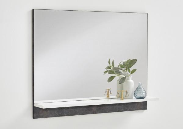 """Garderobenspiegel """"Franci 1"""" Beton dunkel 80x62,5x14cm Spiegel Flurspiegel"""