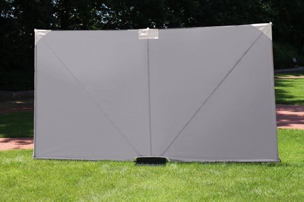 Mobiler Sichtschutz natur Stellwand Raumteiler Trennwand blickdicht Paravent 300 cm