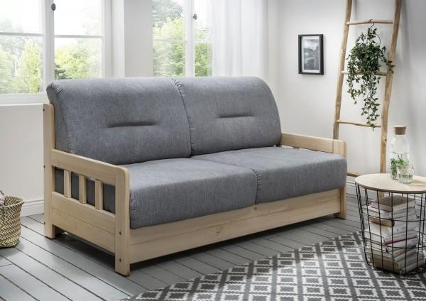 "Sofa ""Vague"" Braun Grau 154 x 88 x 90 cm (B/H/T) 2-Sitzer mit Liegefunktion Schlafsofa"