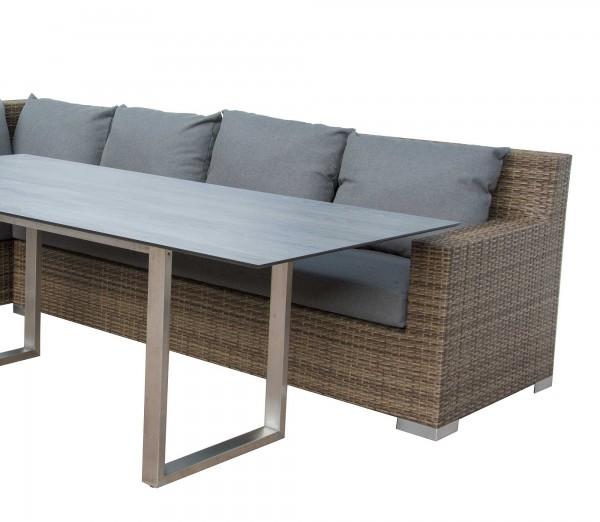 "Diningsofa ""Gracia"", karamell/taupe, 207 x 87 x 86 cm, mit Polster, Sofa, Gartensofa, Garten"