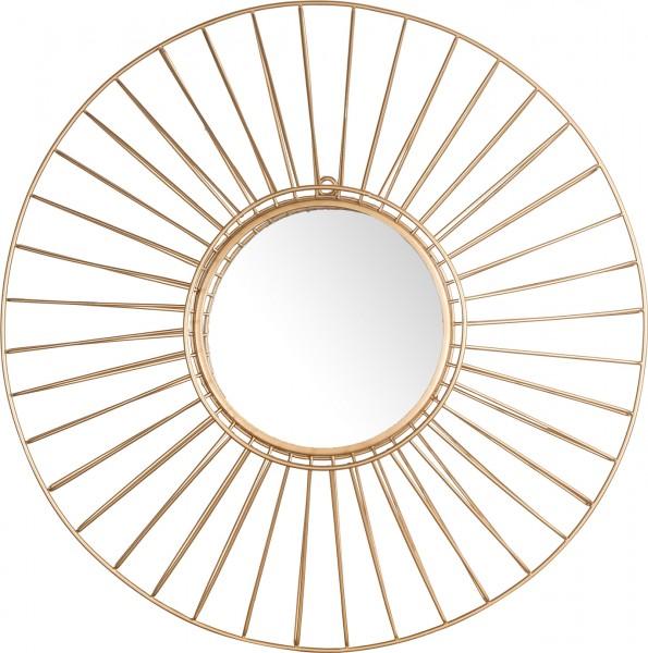 "Spiegelprofi 61105506 Florina X Metallspiegel ""Helios"", golden, ca. Ø 50cm Wandspiegel Spiegel"