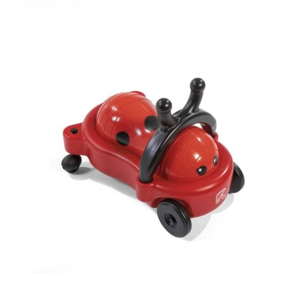 """Kinderbuggy """"Bug"""" in rot-schwarz aus Kunststoff 58x32x33cm Rutschauto"""