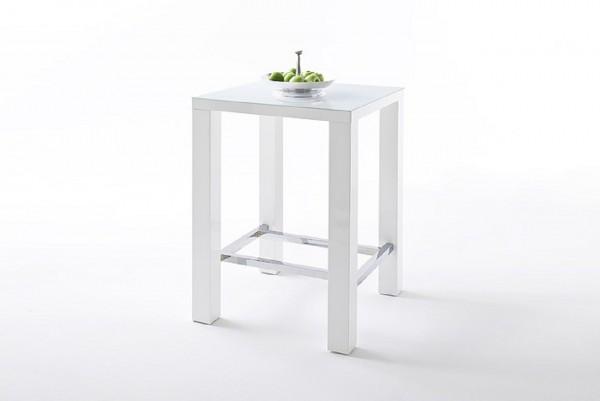 """Barmöbel Set """"Celeb"""" 5-tlg. Bartisch, 4 Stühle, weiß, bordeaux, 80x107x80cm"""