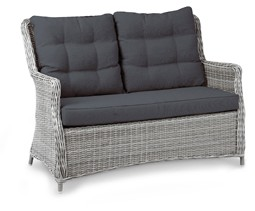 "Beauty Scouts Gartencouchset, Loungecouch Set ""Bali"" 3-tlg. warm- grey"