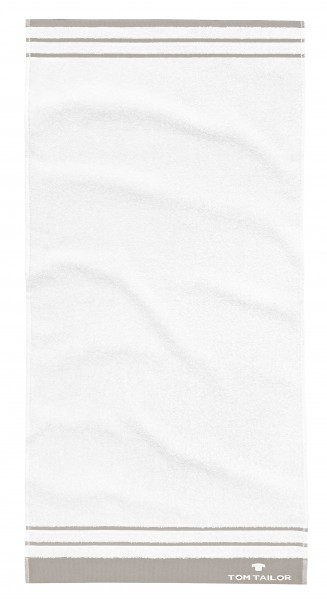 "Tom Tailor Handtuchset ""Rom"", 2er-Set, 50 x 100 cm, weiß"