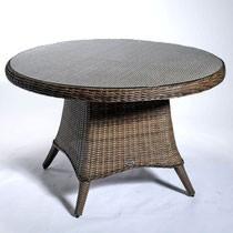 """Gartentisch """"Honey"""" braun 120 cm Outdoortisch Beistelltisch Tisch rund Rattan"""