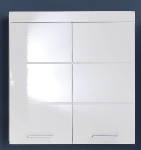 """Hängeschrank XL """"Egedal"""", Schrank Badezimmer HG Weiss Tiefziefolie MDF FSC 70% 73x77x23cm"""