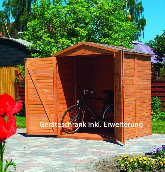 """Geräteschrank """"Dieter"""", Kiefer, honigbraun, 174 x 82 x 210 cm, Gartenschrank, Outdoorschrank, Garten"""