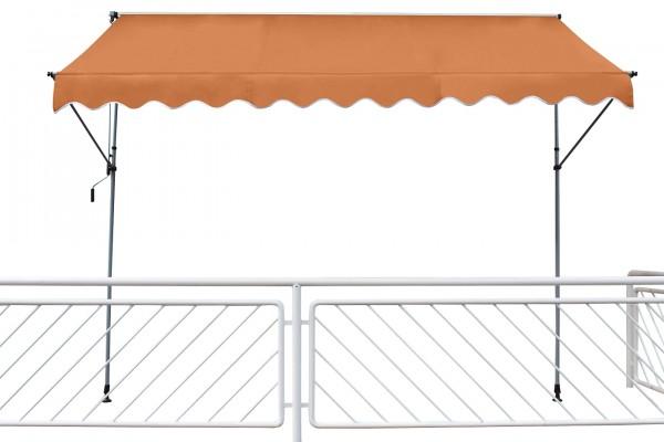 "Klemmmarkise ""Marlina"" uni-orange grau Stahlrohrgestell Polyester 200x120cm"