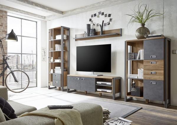 Wohnwand, Wohnzimmerkombination, Wohnzimmer, IndustrieDesign, Java Living III, Beauty.Scouts,