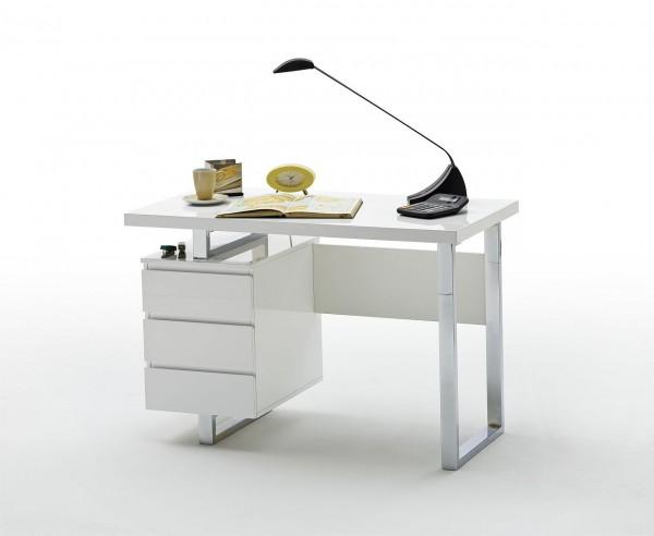 """Schreibtisch """"Myth Side"""", Hochglanz weiss, 115x76x60 cm"""