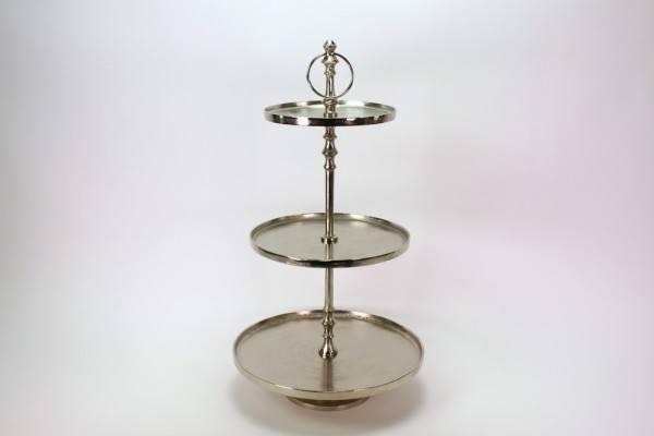 "Etagere ""Bellbue"" 3-stöckig vernickelt, H 74 cm"