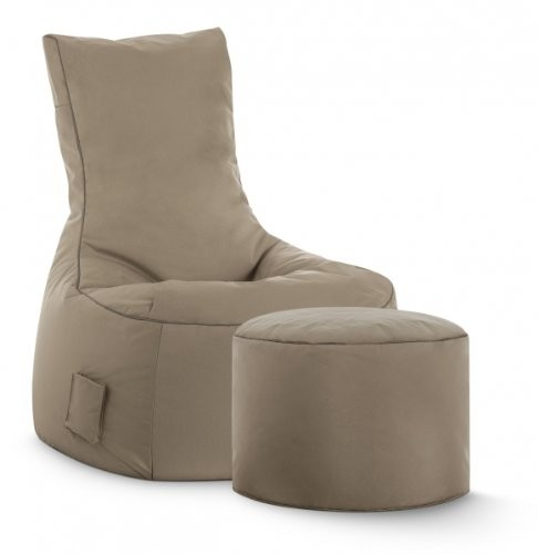 Sitzsack Set XXL Scuba Swing plus Hocker Dot.Com, Outdoor & Indoor wasserabweisend khaki