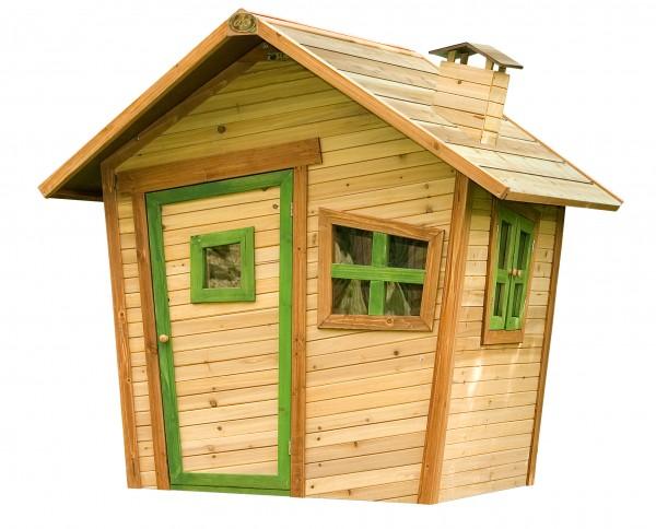 """Holzspielhaus """"Ulf"""" 108x95x146cm aus Zedernholz in braun"""