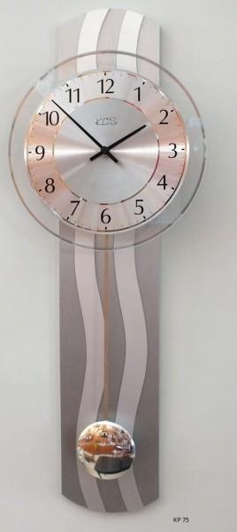 "Wanduhr ""Moni"" mit Quarzpendelwerk, lackierte Holzrückwand, 23 x 60 cm"