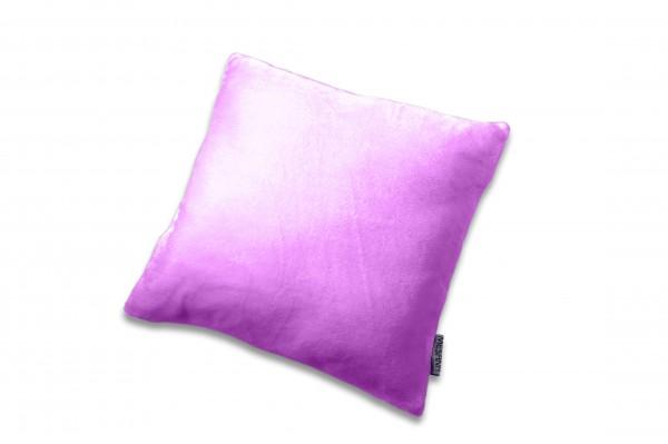 """Kissen """"Bella"""" violett mit Reißverschluss und Füllung Polyester Microfaser-Nicky Plüsch 40x40cm"""