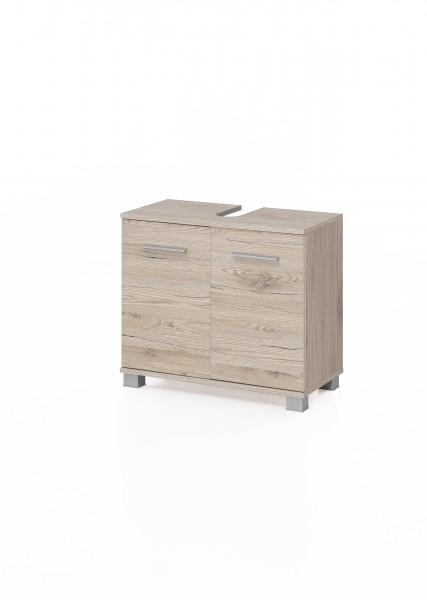 """Waschtischunterschrank """"Judy 6"""", 60 x 56 x 32 cm, Eiche Sand, 2 Türen"""