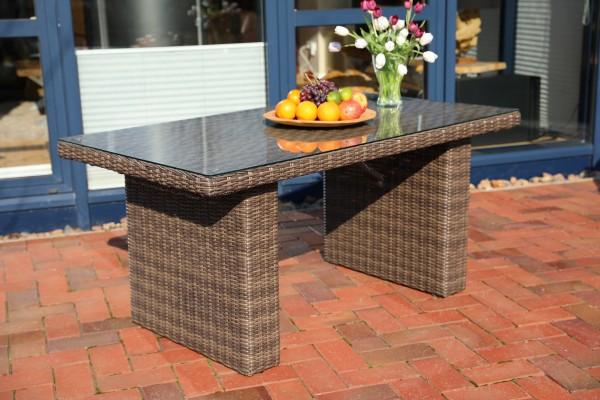 """Tisch """"Auckland"""", vintage braun, 145 x 80 x 67 cm, Loungetisch, Gartentisch, Balkontisch, Garten"""