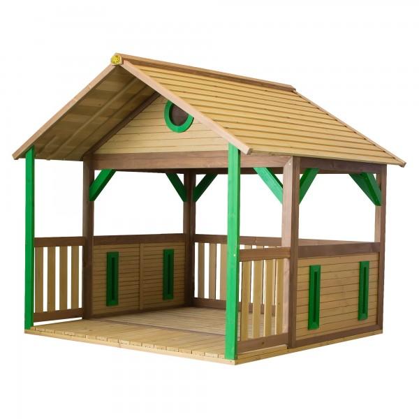 """Holzspielhaus """"Stine"""" 173x180x180cm aus Zedernholz in braun Unterstand"""