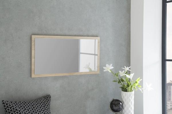 """Spiegel """"Peter 4"""", Eiche sägerau, 76 x 38 x 2 cm, mit Rand, Spiegelfläche 71 x 33 cm"""