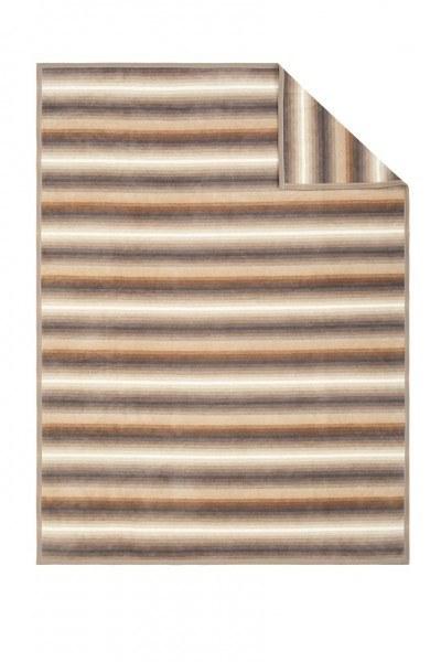 Jacquard Sesselschoner Sorrento braun/beige, 100 x 200 cm