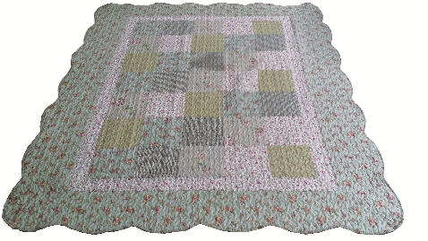 "Beauty.Scouts Patchworkdecke Tagesdecke Plaid ""Rosalie"" 155x180 cm"