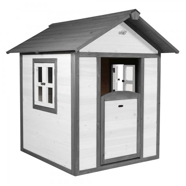 """Holzspielhaus """"Sun"""" 102x94x133cm aus Holz in grau-weiß"""