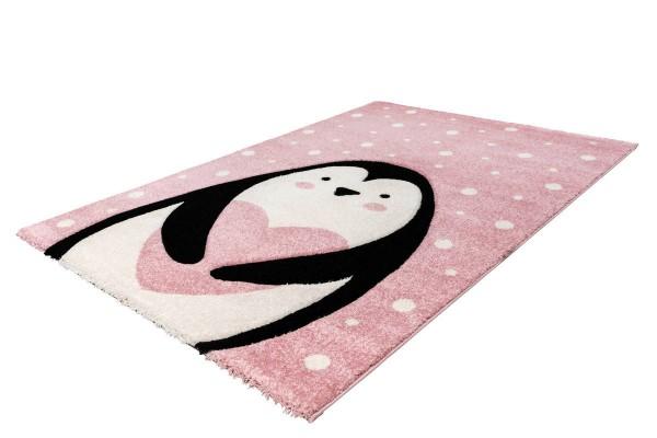 """Kinderteppich """"Mira"""" rosa 80x150cm 120x170cm Teppich Kurzflorteppich Spielteppich"""