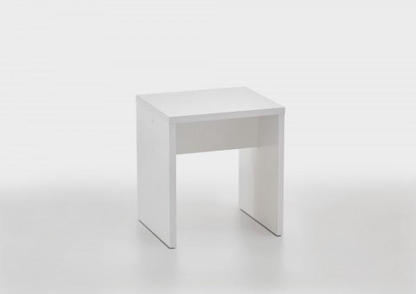 """Sitzhocker """"Fola 2"""" weiß 40x44x35cm passend zum Schminktisch"""