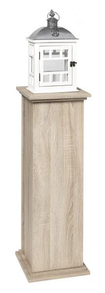 Dekosäule 'Style II' Eiche mit Innenraum Schrank Dekoschrank Schränkchen