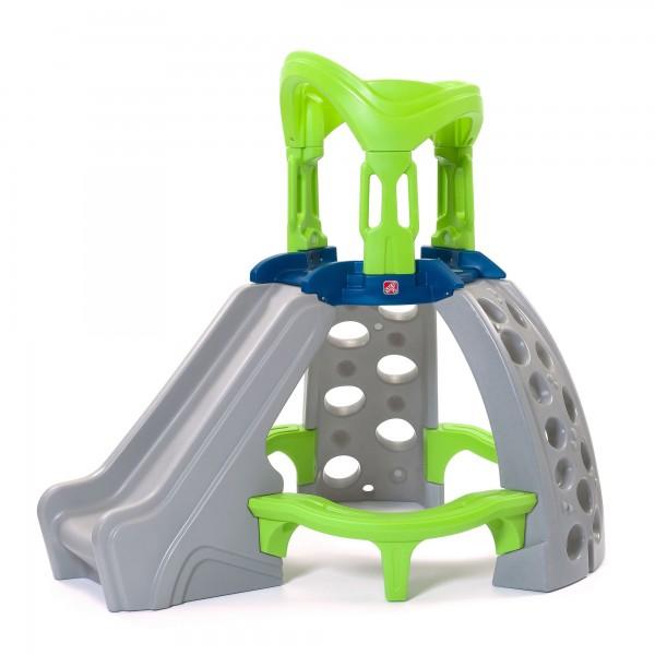 """Klettergerüst """"Timo"""" aus Kunststoff grün, blau, grau mit Rutsche 154,9x154,9x156,2cm Spielecenter"""