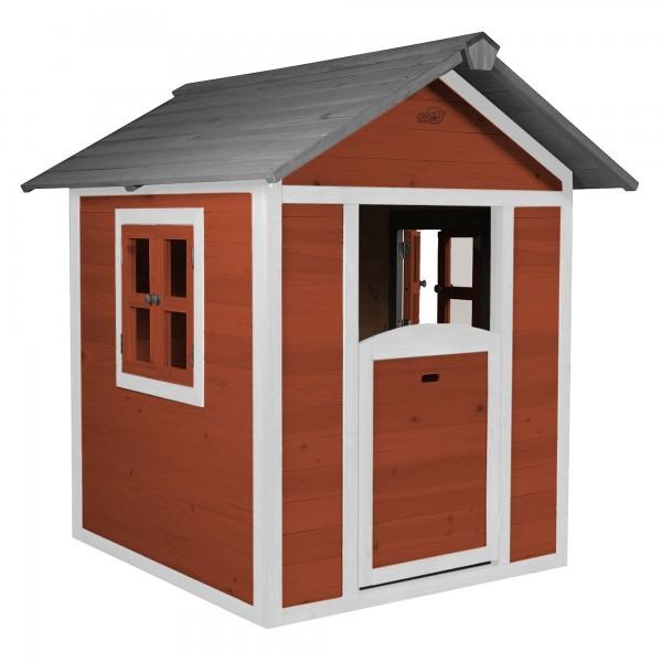 """Holzspielhaus """"Sun"""" 102x94x133cm aus Holz in rot-weiß"""