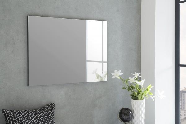 """Spiegel """"Isi 2"""", graphit, 85 x 60 x 2 cm, ohne Rand, große Spiegelfläche"""