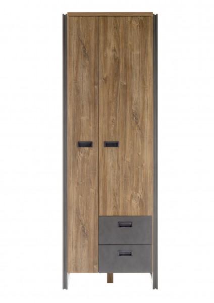 """Garderobenschrank """"Java Living"""" Schrank Stirling Oak Nachbildung, 70x202x44 cm Flurschrank"""