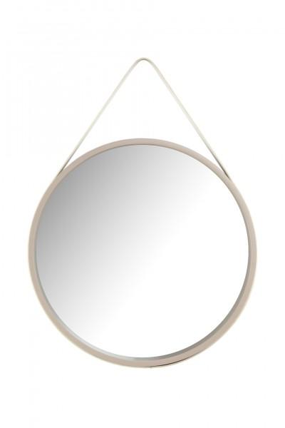 """Wandspiegel """"Sina II"""" Taupe weiß schlicht modern elegant 3,5-7,5x49,5x49,5cm Spiegel"""