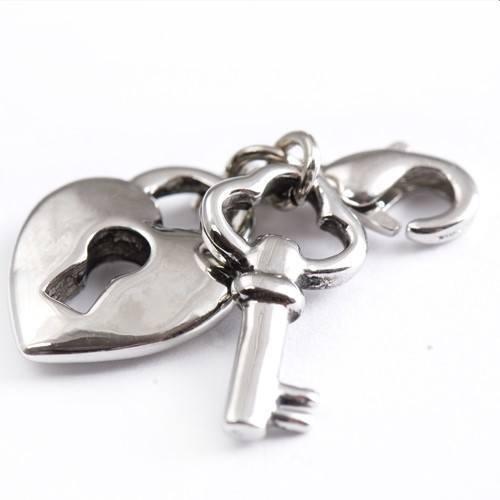Charm Anhänger Herz mit schlüssel