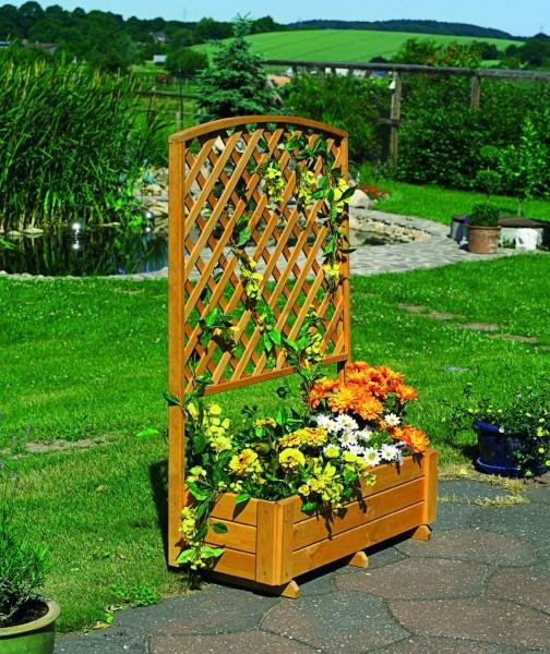 """Rankkasten """"Jolie"""" Kasten honigbraun wetterfest 91x41x130cm Blumenkasten"""
