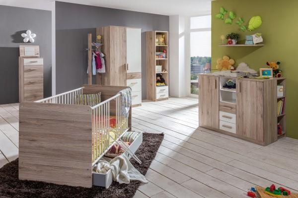 Babyzimmer, Kinderzimmer, modern, Holy II, San Remo Eiche, Alpinweiß