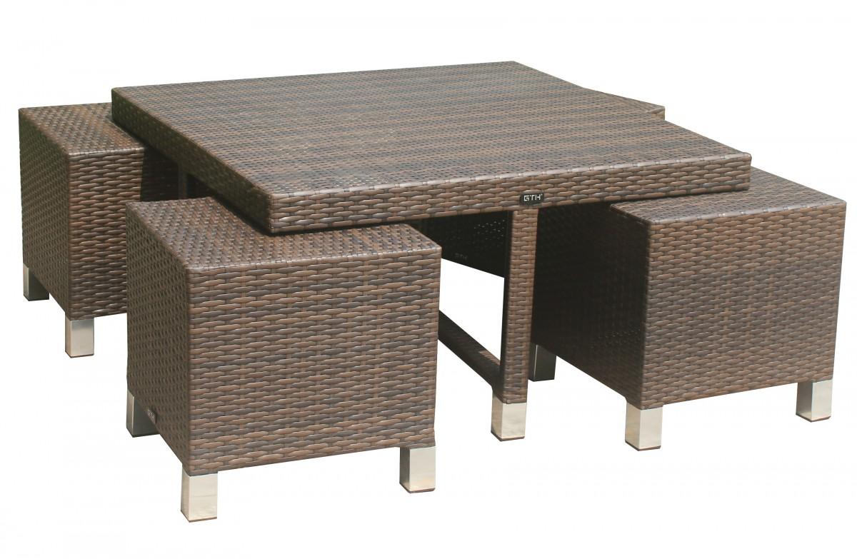 2er Loungesofa Malibu Gartensofa Gartenmobel Aluminium Rattan