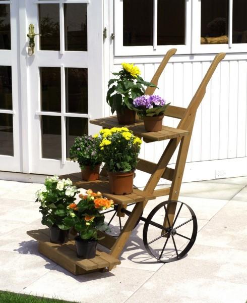 """Blumenkarre """"Margarete"""" honigbraun imprägniert 68x88x106cm Gartendekoration"""